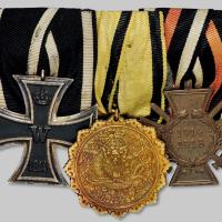 清银鎏金头等功牌/德国十字勋章计3枚