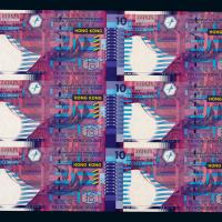 2002年香港新版拾元6连体钞