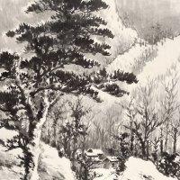 黄君璧 溪山雪霁