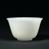 清中期 白玉杯