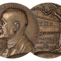 1918年法国斐迪南·福煦元帅肖像铜章