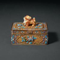 建国初期外销银鎏金首饰盒