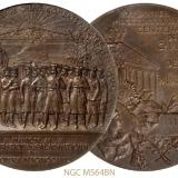 1888年法国波旁宫国民会议建立100周年纪念大型铜章/NGC MS64BN