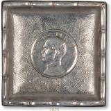 民国时期镶民国二十二年孙中山像背帆船壹圆银币方形银盘