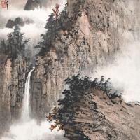 黄君璧 山居观瀑