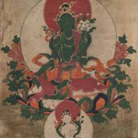 清中期(19世纪) 绿度母唐卡