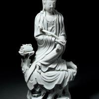 清 德化窑白瓷如意观音