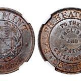 十九世纪末英国伯明翰喜敦造币厂铜质广告章/NGC MS63BN