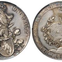 1891年瑞士布格多夫射击节纪念银章/PCGS SP62