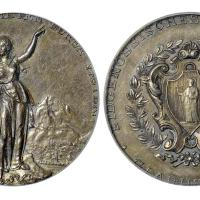 1892年瑞士格拉鲁斯射击节纪念银章/PCGS SP58