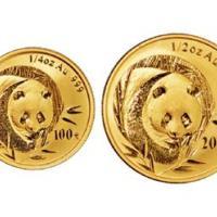 2003年熊猫金币一套五枚