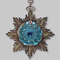清代第二版三等一级大型御赐双龙宝星勋章