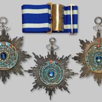 清代第二版三等小型双龙宝星勋章三枚