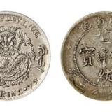 吉林省造光绪元宝、四川省造宣统元宝库平七分二厘银币各一枚