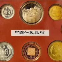 1982年中国人民银行发行套装精制流通硬币八枚全套