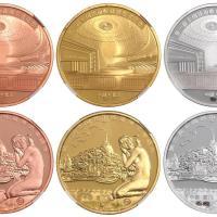 2014-2015年全国钱币收藏博览会纪念章六枚/均CNCS评级