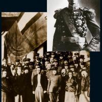 伪满洲国时期溥仪新闻照片二张