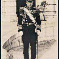 民国获颁四等双龙宝星勋章的日本军官照片