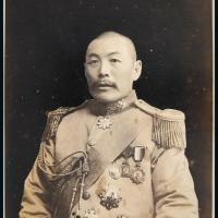 民国时期吴佩孚戎装照片