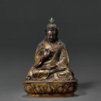 清早期(十七世纪后半至十八世纪前半) 铜鎏金莲花生大师