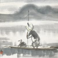 林风眠 渔夫图