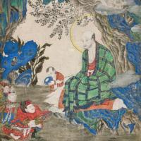 清康熙 迦诺迦伐蹉尊者唐卡