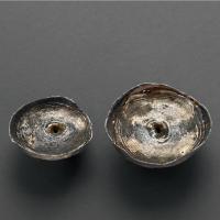 清代贵州素面一两、二两盘丝银锭各一枚