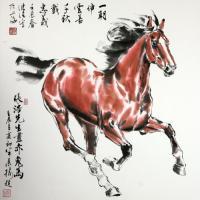 奔马中国画