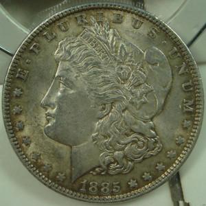 美国1885年摩根银币鉴定真假