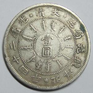 北洋24年光绪银币库平七钱二分