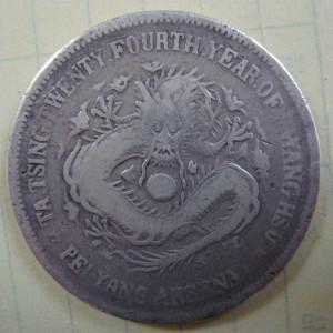 大清银币北洋24年7.2