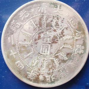 大清北洋24年银币