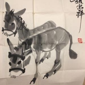 赵忠祥画两幅鉴定真假