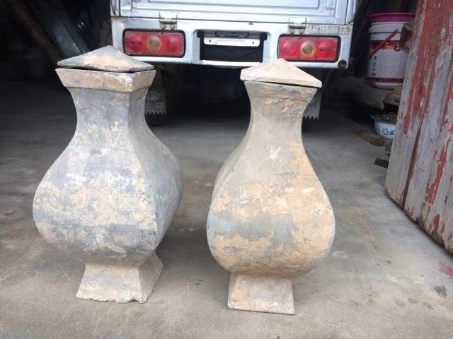 汉代灰陶方壶型陶罐鉴定结果