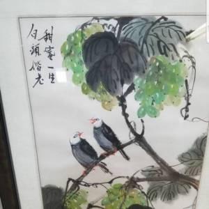 刘宗新《甜蜜一生白头皆老》花鸟画鉴定真假