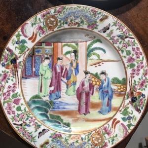 清广彩瓷盘