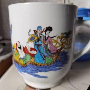 大清乾隆年制,八仙过海茶杯鉴定真假
