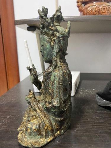 青铜鎏金菩萨像鉴定结果