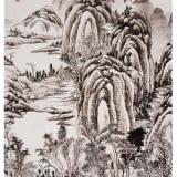 书画收藏之清代路慎庄《山村雨霁图轴》