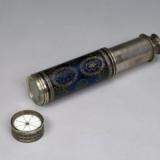 十八世纪银嵌珐琅二节望远镜