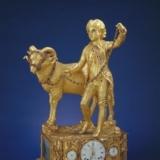十八世纪铜镀金少年牵羊钟