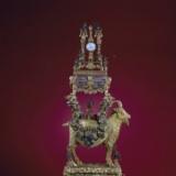 铜镀金山羊驮乐表