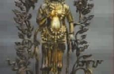 清早期鎏金银弥勒佛像