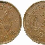 民国开国纪念铜币十文及版本图片