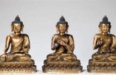 三尊明代鎏金铜佛造像以629.2万欧元成交