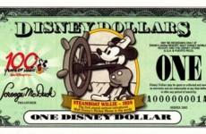 迪士尼纸币受收藏追捧