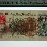 第三套人民币背绿水印壹角