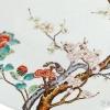 雍正粉彩过墙花卉纹盘