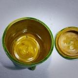 唐代绿釉茶叶旋纹罐是实用器吗?
