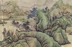 元 吴镇《山水册页》